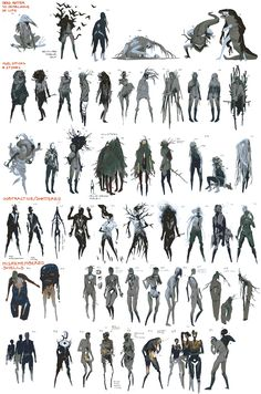 concept art Book of the Dead: Concept Art Uni - art Fantasy Character Design, Character Design Inspiration, Character Art, Concept Art Books, Game Concept Art, Monster Concept Art, Monster Art, Creature Concept Art, Creature Design