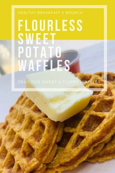 Delicious & Healthy Sweet Potato and Oat Waffle recipe! Flourless & Gluten-Free Breakfast has never been so good or easy! # waffle recipe # sweet potato recipe # gluten free breakfast # flourless waffles # gluten free waffles Sweet Potato Waffles, Sweet Potato Recipes, Fluffy Waffles, Gluten Free Waffles, Gluten Free Breakfasts, Waffle Recipes, Wellness Tips, Brunch, Healthy