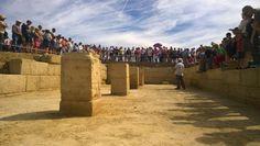 Criptopórtico del foro romano de los Bañales (Uncastillo, Zaragoza). 2015