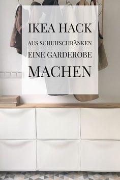 Ikea Hack Schuhschrank als Regal im Flur bauen. Unseren Flur habe ich hell udn f… Ikea Hack Shoe cabinet to build as a shelf in.