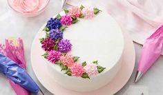 Buttercream Cake Designs, Cake Decorating Frosting, Cake Decorating Designs, Cake Decorating Techniques, Decorating Tips, Fondant Cake Designs, Fondant Flower Cake, Buttercream Flower Cake, Cupcake Cakes