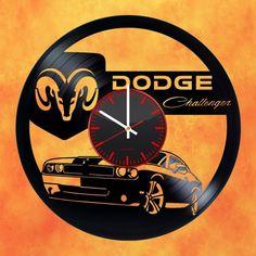 Dodge Challenger Handmade Vinyl Record Wall Clock Fan Gift - VINYL CLOCKS