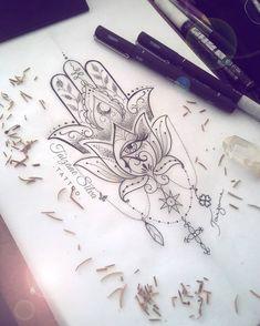 Hamsa Tattoo Design, Hamsa Hand Tattoo, Hamsa Design, Animal Mandala Tattoo, Mandala Hand Tattoos, Geometry Tattoo, Arm Tattoo, Hippie Tattoos, Hamsa Tattoo