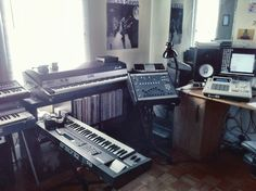 Rhodes, SP-1200, MPC 3000, and EPS-16 — A perfect production setup.