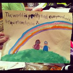 First grader's painting is philosophical.