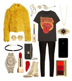 """⚡️ROLLING STONES⚡️"" by theodor44444 ❤ liked on Polyvore featuring Simon Miller, Jennifer Meyer Jewelry, Maria Black, Yves Saint Laurent, MadeWorn, ASKA, Roberi & Fraud, NARS Cosmetics, Fred Leighton and Carbon & Hyde"