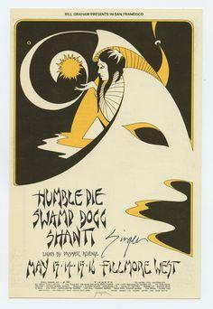 Bill Graham 280 Postcard Ad Back Humble Pie 1971 May 13 David Singer signed