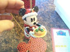 Jim Shore Disney Traditions Enesco Minnie Claus with Stand Ornament Christmas