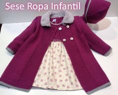 Discover thousands of images about Silvia Ruiz Baby Knitting Patterns, Knitting For Kids, Moda Crochet, Knit Crochet, Diy Crafts Knitting, Crochet Baby Jacket, Baby Coat, Knitted Coat, Kids Coats