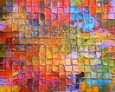 Rainbow Mosaic by Caroline Ashwood