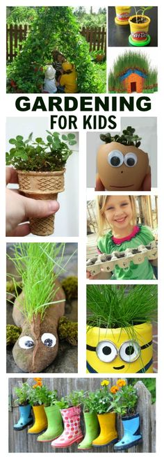 50+ SUPER FUN GARDENING ACTIVITIES FOR KIDS. These are so cool; I can't wait for Spring!