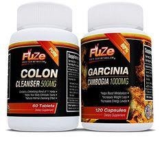 FUZE Garcinia Cambogia  Colon Cleanser Detox Diet Pills 80 HCA Appetite Suppressant Weight Loss Supplement >>> Details can be found by clicking on the image.
