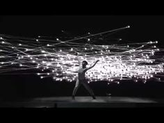 New Media Art can include performance art. Here is a clip of what can is possible when performance art and technology are combined.