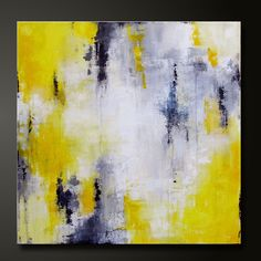 On Hold For Bianca Abstract in Yellow 4 20 x 20 Abstract