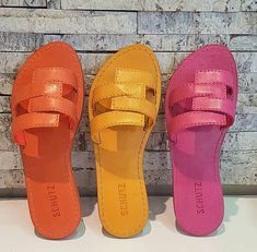 Kid Shoes, Shoe Boots, Leather Sandals, Shoes Sandals, Leather Slippers For Men, Eagle Shoes, Yellow Sandals, Cute Slippers, Fashion Sandals