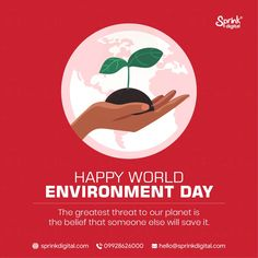 The greatest threat to our planet is the belief that someone else will save it World Environment Day, Our Planet, Someone Elses, Planets, Digital, Happy, Ser Feliz, Being Happy