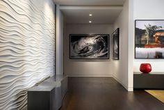Triptych Wall Art with White Bedding Metal Sculpture Interior, Image House, Interior Design Tv Shows, Triptych Wall Art, Wallpaper Living Room, Contemporary Wallpaper, Home Decor, Online Interior Design, White Bedding