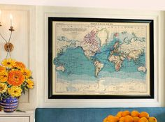 Vintage map of the world -  Large wall  map -  Archival print - Many sizes available by AncientShades on Etsy https://www.etsy.com/listing/154883052/vintage-map-of-the-world-large-wall-map