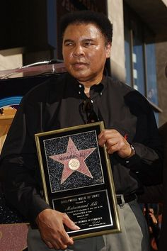 Muhammad Ali on The Walk of Fame.