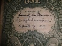 1917 $1 United States Note Short Snorter, Signed Sawhorse!