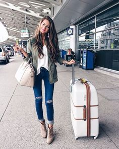cargo-jacket-traveling-style- Chic traveling luggage http://www.justtrendygirls.com/chic-traveling-luggage/