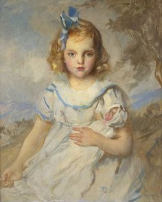 EDMUND TARBELL (AMERICAN 1862-1938). MY FAVORITE DOLL.