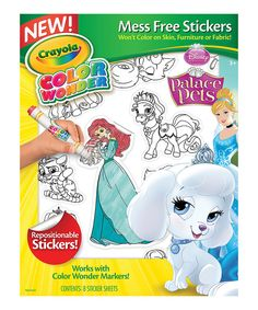 Look at this Disney Princess Palace Pets Color Wonder Sticker Set on #zulily today!