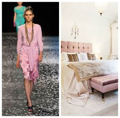 Spring 2013 trends from the runway to use as inspiration for your home decor #fashion #runway #spring2013 #bedroom #pastels