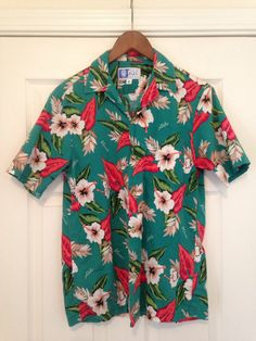 Vintage RJC Hawaiian hibiscus shirt mens by twinflamesboutique