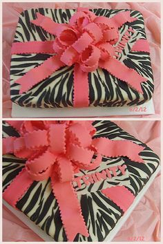 zebra print sheet cake and other cute cake ideas.