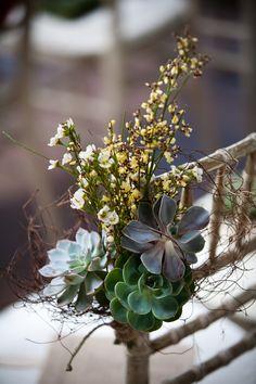 rustic succulent Arizona Desert Wedding decor