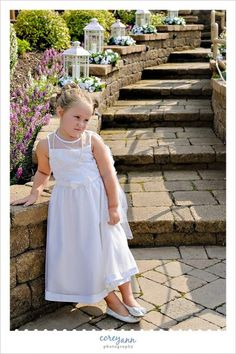 impatient flower girl waiting for the wedding to start