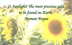 Payne quote: O, Sunlight…