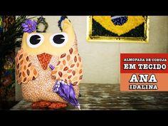 Video tutorial Owl door stop or pillow!  23/10/2014 - Almofada de coruja em tecido (Ana Idalina) - YouTube