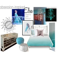 Hello, my lovely Pinterest followers! I'm going to do obsession-inspired interior design fairly regularly, so I'd appreciate it if you'd follow me on Polyvore! <3 (Elsa Bedroom by claire-severson)