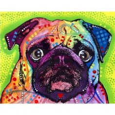 This Pug dog graphic was created by artist Dean Russo and made into a wall decal sticker by My Wonderful Walls. Animal pop art available in multiple sizes. Pop Art, Dean Russo, Arte Pop, Mundo Animal, Pug Love, Dog Design, Wall Sticker, Animal Prints, Dog Prints
