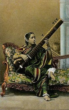Painting of a woman with a sitar - Indian musical instruments - Wikipedia, the free encyclopedia
