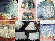 DIY : Customização de shorts jeans. Tutoriais no post: http://www.divatododia.com.br/2014/12/diy-aprenda-customizar-shorts-jeans.html