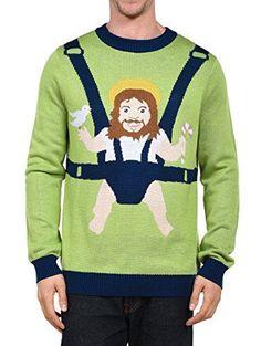 Tipsy Elves Men's Sweet Baby Jesus Christmas Sweater: Small