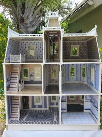 Dollhouses by Robin Carey: The Key West Island Manor Dollhouse