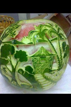 Vandmelonkunst. Utroligt!