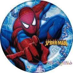 The Amazing Spiderman Small Plates Super Hero Birthday Party Supplies Cake Spiderman Cards, Spiderman Balloon, Spiderman Stickers, Superhero Birthday Party, 8th Birthday, Paw Patrol Birthday Invitations, Hulk, Festa Party, Amazing Spiderman