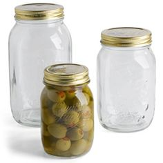 The Container Store ~ Quattro Stagioni Jars ~ Perfect for the pantry! Use them to store grains, pastas, beans, nuts, dried fruit and so much more. Looks pretty too!