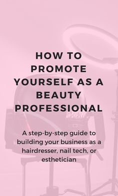 Want a marketing idea or salon inspiration to build your business as a hairdresser, nail tech, or esthetician? This article shows you how to attract new salon clients with personal branding. Salon social media isn't as important as growing a strong Social Media Branding, Personal Branding, Marca Personal, Hair Removal, Mary Kay, Home Beauty Salon, Beauty Salons, Mobile Beauty Salon, Home Nail Salon