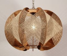 Handcrafted Wood Light Fixture by LuxAndWatts on Etsy, $175.00