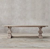 Reclaimed Russian Oak Baluster Rectangular Extension Dining Table