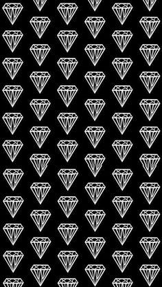 Diamond Print - black & white pattern