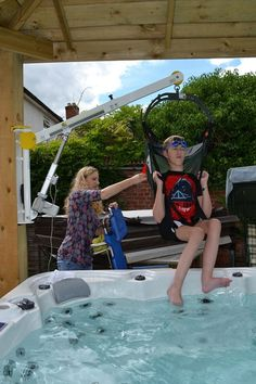 Hot Tub disabled access case study, supplied and installed by Dolphin Lifts.