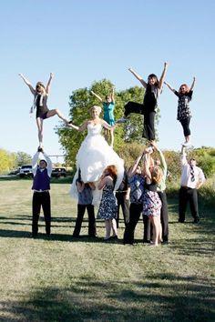 Cheer Wedding Pyramid!