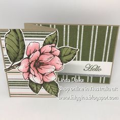 Linda Dalke: Video Tutorial: Easy Z-Fold Magnolia Card Fun Fold Cards, Folded Cards, Cute Cards, Pretty Cards, Magnolia Stamps, Stampin Up Catalog, Stamping Up Cards, Making Ideas, Cardmaking